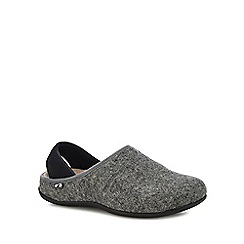Strive - Light grey 'Stockholm' orthotic mule slippers