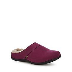Strive - Purple nubuck 'Vienna' mule slippers