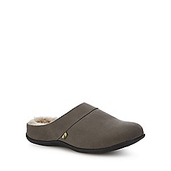 Strive - Dark grey nubuck 'Vienna' mule slippers