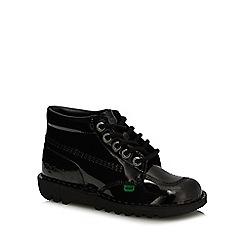 Kickers - Black patent leather 'Classic' high tops