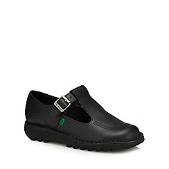 Kickers - Black leather 'Classic' T-bar shoes