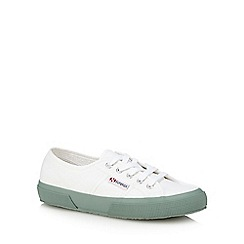 Superga - Olive canvas 'Cotu Classic' lace up trainers