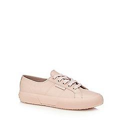 Superga - Pink leather '2750 Nappa Lea' trainers