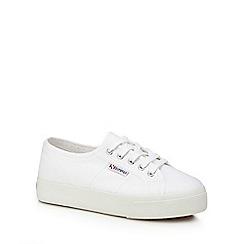Superga - White canvas 'Cotu Classic' lace up trainers