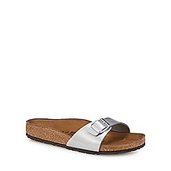 Birkenstock - Silver 'Madrid' single strap sandals