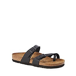 Birkenstock - Black 'Mayari' cross over strap sandals