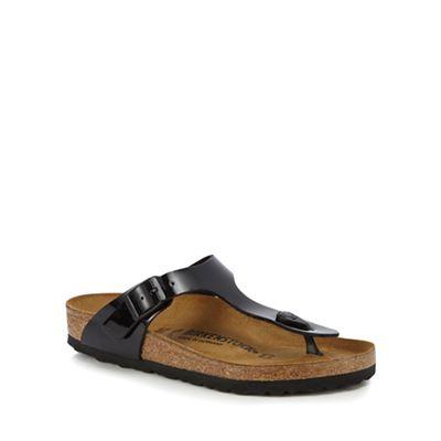 Birkenstock - Black patent patent Black 'Gizeh' sandals 168709