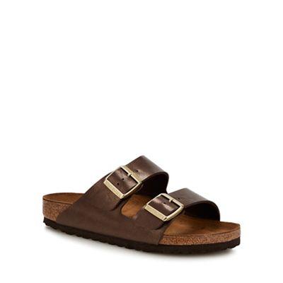 068010358773: Brown Arizona Double Strap Sandals
