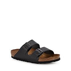 Birkenstock - Black leather 'Arizona' double strap sandals
