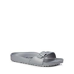 Birkenstock - Silver 'Madrid Eva' single strap sandals