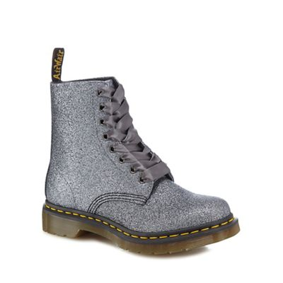 Dr Martens - Silver glitter 'Pascal' lace up boots