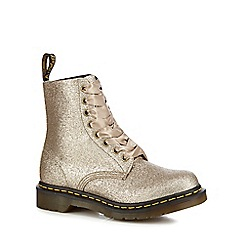 Dr Martens - Gold glitter '1460 Pascal' lace up boots