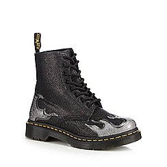 Dr Martens - Near black glitter '1460 Pascal Flame' lace up boots