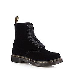 Dr Martens - Black velvet '1460 Pascal' lace up boots