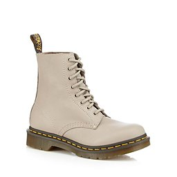 Dr Martens - Taupe leather  1460 Pascal  lace ... 39e610afbe38