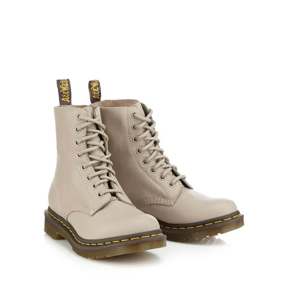 Taupe up Martens Dr '1460 boots leather lace Pascal' RFZTqw