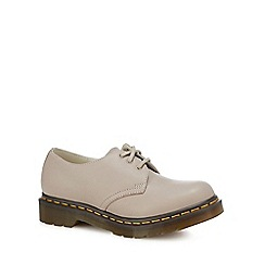 Dr Martens - Taupe leather '1461' lace up shoes