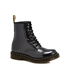 Dr Martens - Silver '1460 Vegan Chrome' lace up boots