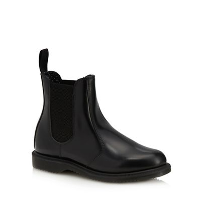 Dr Martens - Black leather 'Flora' Chelsea boots