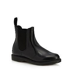 Dr Martens - Black leather 'Flora' Chelsea boots