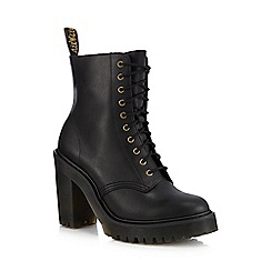 Dr Martens - Black leather 'Kendra' block heel ankle boots