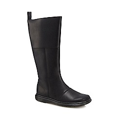 Dr Martens - Black leather 'Lahiri' calf length boots