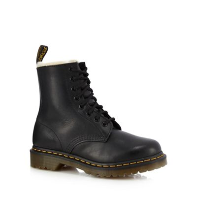 Dr Martens   Black Leather '1460 Serna' Lace Up Boots by Dr Martens