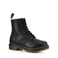 Dr Martens - Black leather '1460 Serna' lace up boots