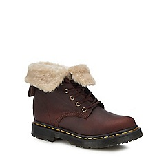 Dr Martens - Brown leather '1460 Kolbert' lace up boots