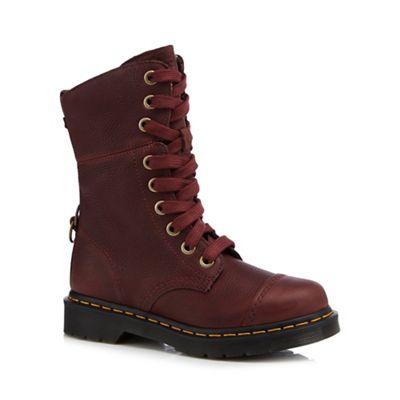 Dr Martens Dark red 'Aimilita' lace up boots | Debenhams
