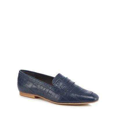 J by Jasper Conran - Navy leather 'Jaunty' loafers