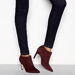 J by Jasper Conran - Wine suede 'Janana' stiletto heel ankle boots