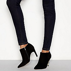 J by Jasper Conran - Black suede 'Janana' stiletto heel ankle boots