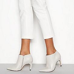 J by Jasper Conran - Ivory leather 'Janana' stiletto heel ankle boots