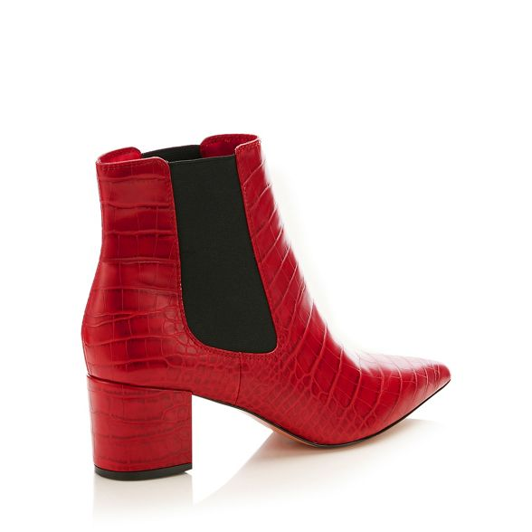 heel boots Conran Jasper J croc by Chelsea Red block effect qSnwTnA0