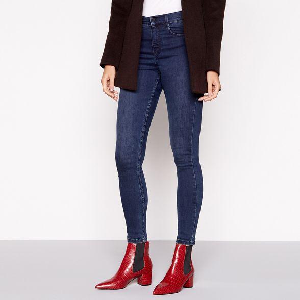 Jasper Red effect boots J by Conran Chelsea block heel croc q7wt5R