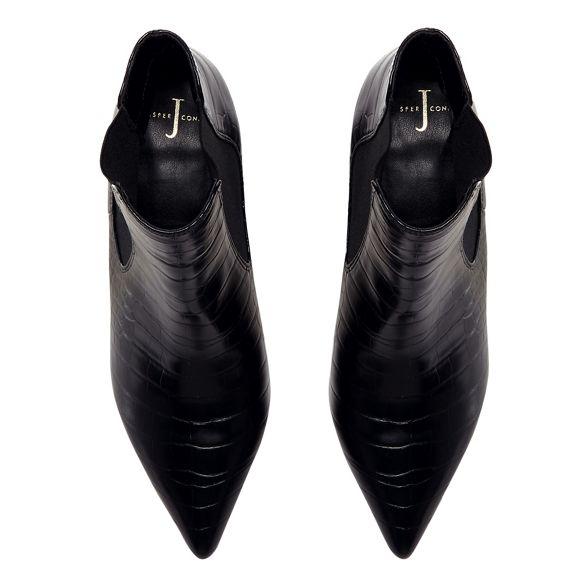 boots block heel Jasper effect Chelsea croc Conran J by Black ZnqTPRBwz