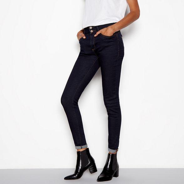 f6a16b83431 ... block heel J Chelsea effect by Jasper Conran Black boots croc WYcAUqYZ