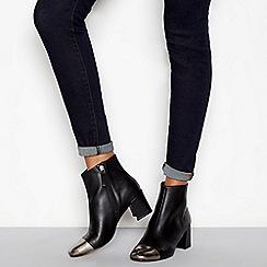 J by Jasper Conran - Black leather 'Joe' block heel ankle boots