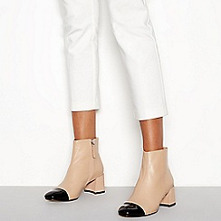 J by Jasper Conran - Camel leather toe cap 'Joe' mid block heel ankle boots