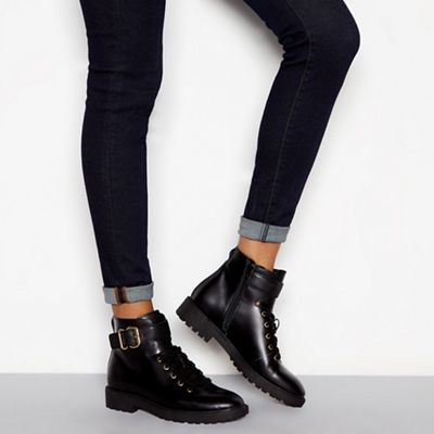 J by Jasper 'Jace' Conran - Black leather 'Jace' Jasper biker boots d0c152