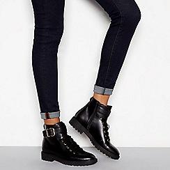 J by Jasper Conran - Black leather 'Jace' biker boots