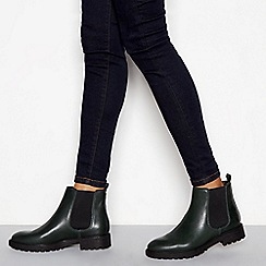 J by Jasper Conran - Green leather 'Jasual' Chelsea boots