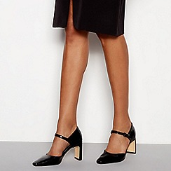 J by Jasper Conran - Black block heel court shoes