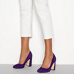 J by Jasper Conran - Purple suedette 'Jip' block heel court shoes