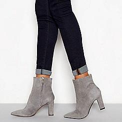 J by Jasper Conran - Grey suede block heel ankle boots