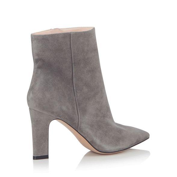 boots by Conran J ankle heel Grey Jasper suede block vw8x8qgF1