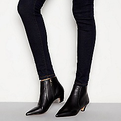 J by Jasper Conran - Black leather 'Jitty' kitten heel boots