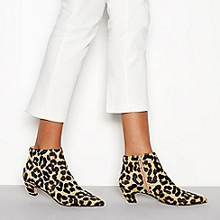 J by Jasper Conran - Multicoloured leopard print 'Jitty' kitten heel boots
