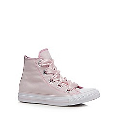 Converse - Rose Canvas 'Big Eyelets' Hi-Top Trainers